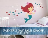 Fathers Day Sale - Mermaid Wall Decal - Under the Sea Wall Decal