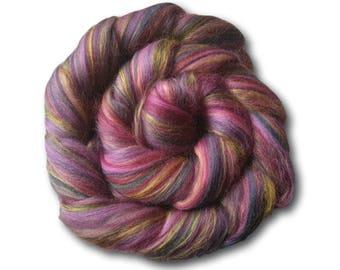 Merino & Bamboo Blend Combed Tops 100g Spinning Felting Weaving Bonbon Pink Purple Craft Wool Roving Handspun Handspinning