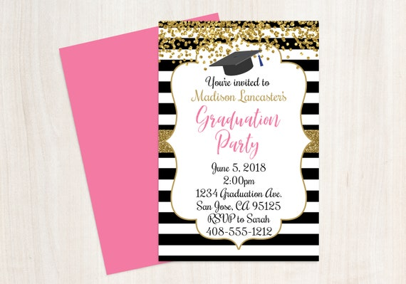 Graduation Announcement Graduation Party Invitation Graduation