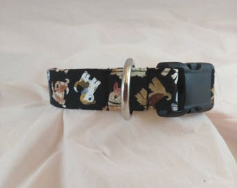 Playful Pup Collar, Masculine Dog Collar, Dog Collar, Paw Print Collar, Collier de chien, collar de perro,