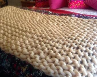 Home Decor Bedroom Knitted Bed Runner