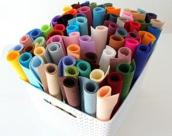 Merino Wool Blend Felt - You Choose 10 6x9 Sheets