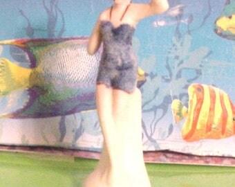 Standing Bisque Bathing Beauty Figurine