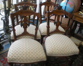 set of antique herter brothers ? dining /parlor chairs from the 1800s  in store pick up only