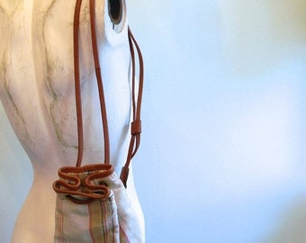 SUMMER SALE Ralph Lauren Silk Cotton Leather Mini Backpack Purse  •  RL Backpack  •  All Purpose Bag  •  Everyday Bag