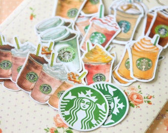 Starbucks Coffee Kamio Cartoon Sticker Flakes