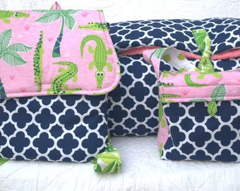 Gator Girl  PERSONALIZED 3 Piece SET  Nap Mat, Back Pack, Lunch Sak by Janiebee