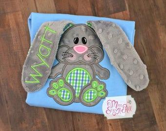 Boys 3D Bunny Shirt, Boys 3D Easter Bunny Shirt, Boys Easter Shirt