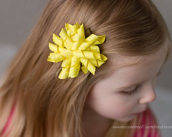 Corker Bow Hair Clip solid and dot...Corker Bow...Corker...Corker Hair Clip...Corker Bow several colors