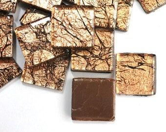 20mm Bronze Antiqued Foil Backed Crytsal Metallic Mosaic Tiles //Mosaic Supplies//Craft Supplies
