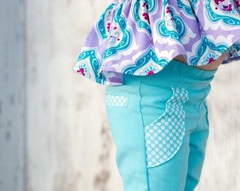 Ibiza Pants PDF Sewing Pattern, Including sizes 12 months-14 years, Girls Pants Pattern