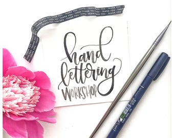 Hand lettering Workshop-JULY 1 Beginners Level Modern Calligraphy Class-Madison Wisconsin-In Person Lettering Class with Lettering Kit