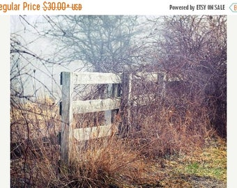 Fence Picture, Country Photography, Rustic Home Decor, Farmhouse Home Decor, Country Photo, Country Decor, Farmhouse Wall Decor