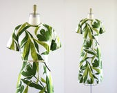 1970's green flora dress