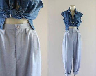 ON SALE woven high waist trousers / s