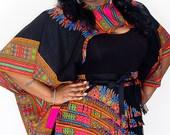 African Print Fringe Belt - Sample