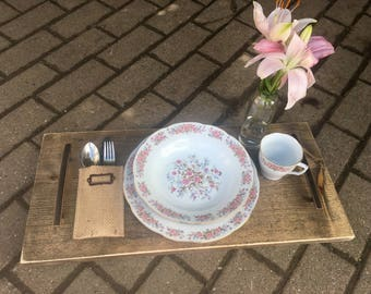 Serving Tray, Food Tray, Handled Serving Tray, Farmhouse Table, Table Centerpiece, Reclaimed Wood, Farmhouse, Kitchen, Woodwork