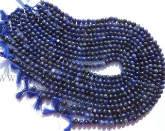 Sodalite Smooth Round (Quality B) / 5.5 to 6.5 mm / 36 cm / SOD-021, Craft Supplies For Jewelry Making