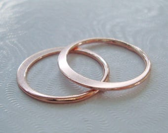 1 pc, 20mm, 1.2mm thick, 18K Rose Gold Sterling Silver Eternity Circle Link, Halo, Great for Macrame bracelet, CC-0061
