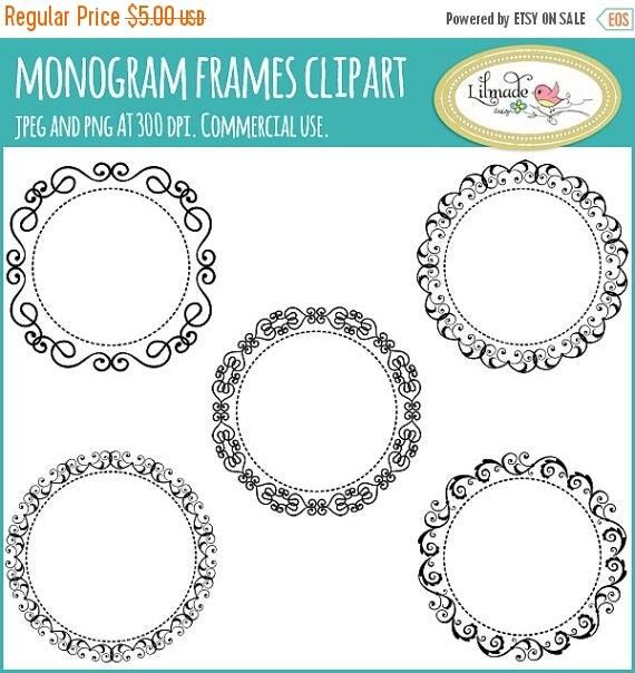 65%OFF SALE Monogram frame clipart, digital frames, lace frames clipart, lace frame digital stamp, embroidery designs, F37
