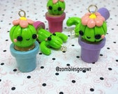 Kawaii Cactus Succulent Polymer Clay Pastel Planner Charm