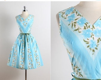25% OFF SALE Princess Peggy . vintage 1950s dress . 50s summer dress . 5677