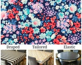 For Katie Laminated cotton tablecloth fitted with elastic, Robert Kaufman Garden