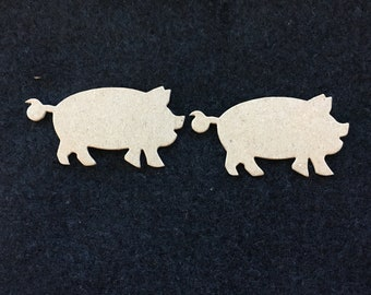 Pig Blanks-DIY Chipboard-Alterable Chipboard Pigs-Decor-Unfinished-Party Decor-Birthday Crafts-Planner Accessories- Piggy Cupcake Toppers