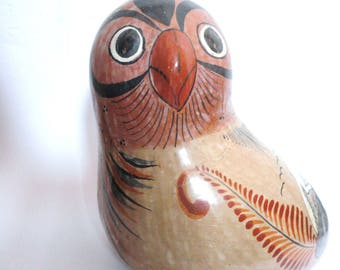 Vintage Hand Painted Mexican Pottery Bird