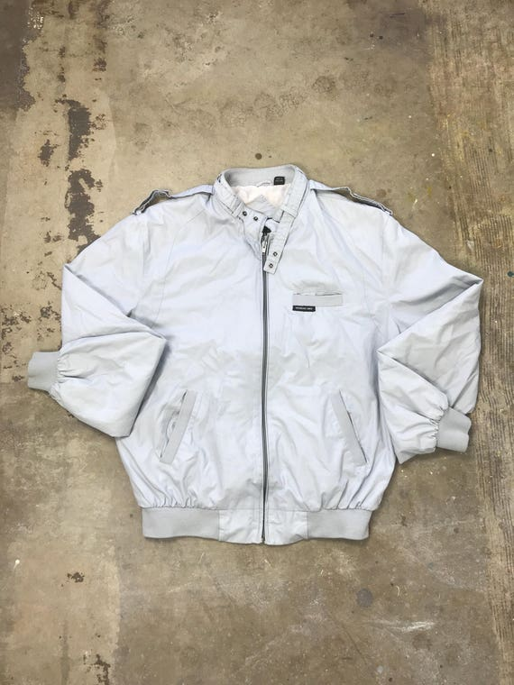 80s  Light Gray Members Only Jacket