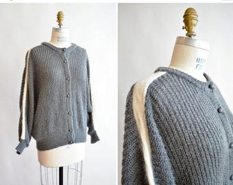 25% off Storewide // Vintage 1980s made in ITaly ANGORA and wool cardigan