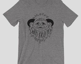 Sarah Friend Illustrated Labyrinth Heather Grey Unisex T-Shirt