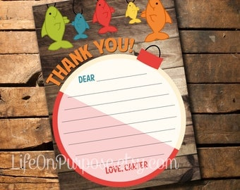 Fishing Birthday Thank You Card