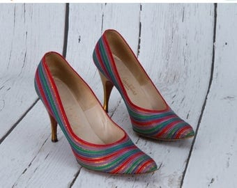 25% OFF vintage 1960s rainbow heels by Neusteters