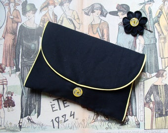 RETRO clutch and customizable hair clip