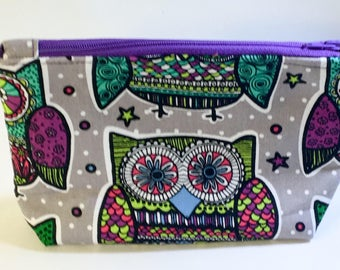 Owl Cosmetic Bag Owl Zipper Pouch Best Friend Gift Owl Purse Gift For Her Owl makeup Bag Owl Pouch Owl accessories Small makeup bag
