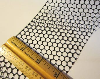 10 yards punchanella, POLKA DOTS stencil material, scrim, sequin waste - punchinella