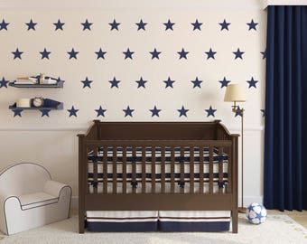 Vinyl Wall Sticker Decal Art - Five Point Stars