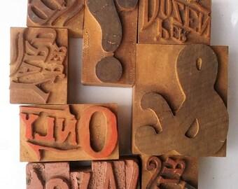 Vintage General Store Stamps, Ampersand Letterpress Wood Type Printing Block, Advertisement Wood Stamps, Printmaking Scrapbooking