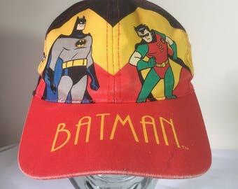 vintage 90's batman the animated series baseball cap joker two face robin comic DC novelty cartoon ULTRA RARE