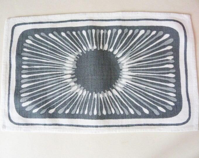 Vintage bread basket liner black