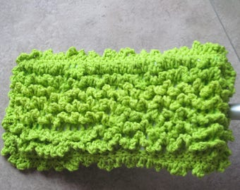 Swiffer Duster Cover ~ Lime Green ~ Reversible
