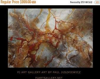 "17% OFF /ONE WEEK Only/ Huge Splash abstract by Pawel Juszkiewicz enormous pouring 48""x30"""