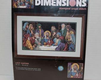 Dimensions Stamped Cross Stitch Last Supper