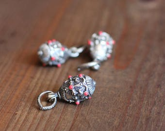 Faberge Drop with Coral Stones