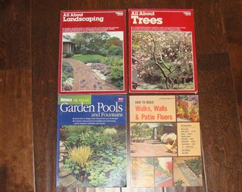 Ortho Books All About Landscaping and TREES 2 books Up to Date Guide on creating a beautiful garden Comprehensive guide to trees 1980s