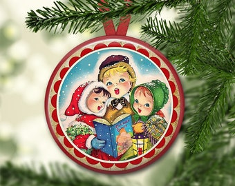"3.5"" holiday ornaments for tree - vintage christmas tree decoration - holiday refrigerator magnets for the kitchen - kitchen decor ORN-50"