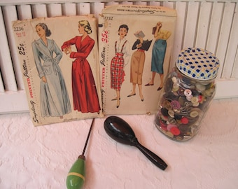 Vintage Simplicity Patterns - Women's Robe and Pencil Skirts, #1732 and #2236