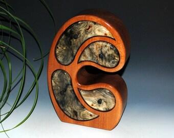 Handmade Wood Jewelry Box - Art Jewelry Box Madonna Style  - Buckeye Burl on Mahogany by BurlWoodBox - Wooden Jewelry Box, Burl Wood Box