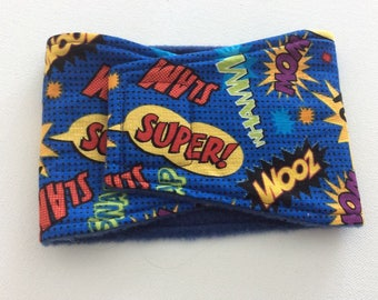 Dog Diaper - Male Dog Belly Band - Super Hero Words - Available in all Sizes